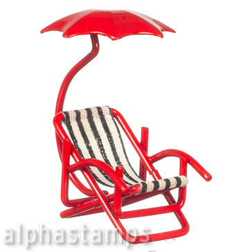 Half Scale Beach Chair with Umbrella