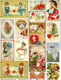 Valentine Kids Collage Sheet