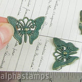 1 Inch Verdigris Butterfly Pendant*