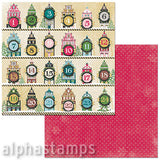 Christmas In The Village Countdown Scrapbook Paper