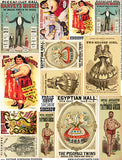 Vintage Sideshow Posters Collage Sheet