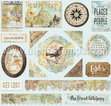 Wanderlust Printed Chipboard