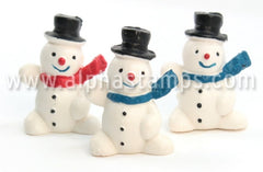Waving Snowman in Top Hat