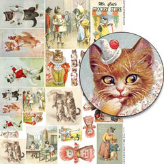 The Well-Dressed Cat Collage Sheet