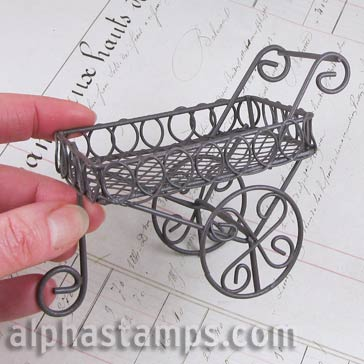 Rustic Wire Display Cart
