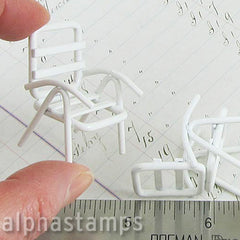 Half Scale White Lawn Chair