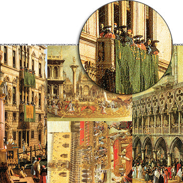 Windows of Venice Collage Sheet