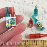 Miniature Wine Bottles Set