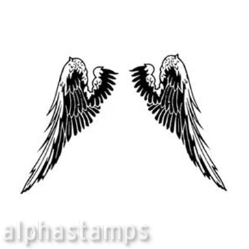 Wings Rubber Stamp*