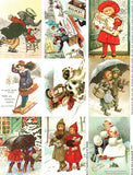 Winter Fun ATCs Collage Sheet