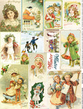Winter Kids Collage Sheet