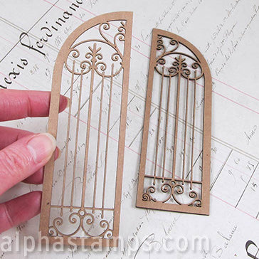 Wrought Iron Gate for Arched Shrine Shadowbox