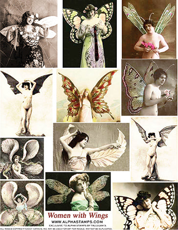 Women With Wings Collage Sheet