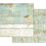 Wonderland Fairy & Writings Scrapbook Paper