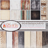 Wood Backgrounds 12x12 Collection Kit