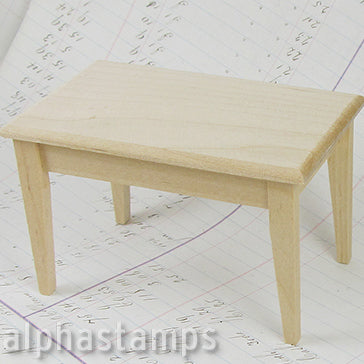 Unfinished Basic Wooden Table