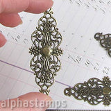 Large Bronze Filigree Wrap or Corner Protector