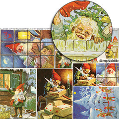 Christmas Gnomes Collage Sheet