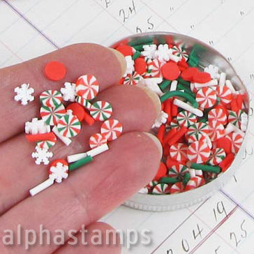 Polymer Clay Christmas Candy Slice Mix