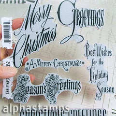 Tim Holtz Christmastime Cling Stamp Set*