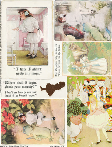 Young Alice Collage Sheet