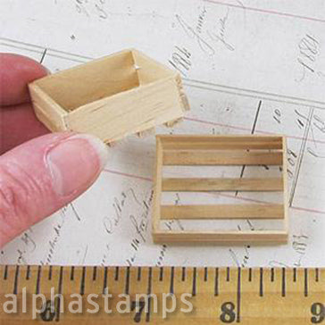 Mini Wooden Crate - Unfinished