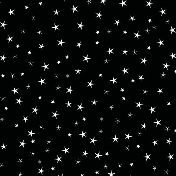 Star Gift Wrapping Paper Black Cocopate