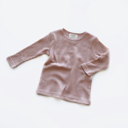 Long Sleeve Basic Tee - Dusty Pink