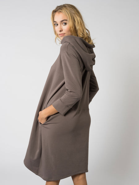 Hoodie Dress Cappuccino