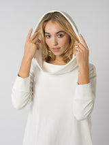 Hoodie Dress White