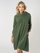 Hoodie Dress Forest Green