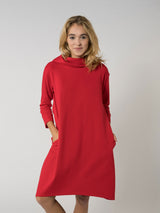 Hoodie Dress Red