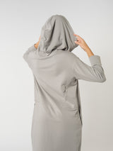 Hoodie Dress Light Grey