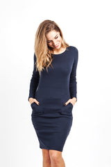"""Hold me tight"" RIB Dress Navy"