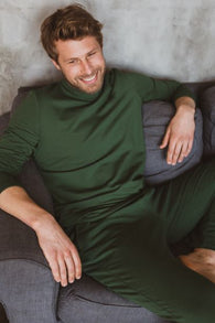 Be-with Pants For Touches For Him - Forest Green