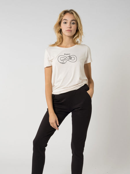 Her eco-Bamboo T-shirt #hugasm embroidery