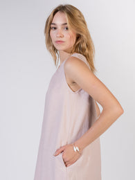 Linen Dress Pink Light