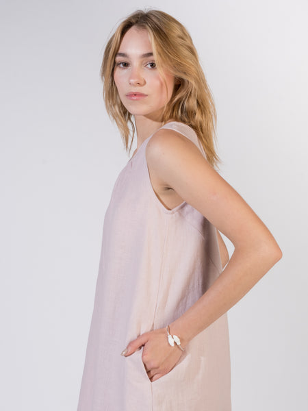 Dress Linen - Light Pink