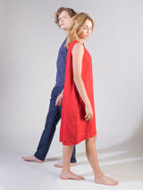 """Be-with"" Linen Dress Red"