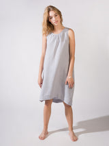 Linen Dress Blue Light