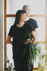 Her eco-Bamboo T-shirt Black