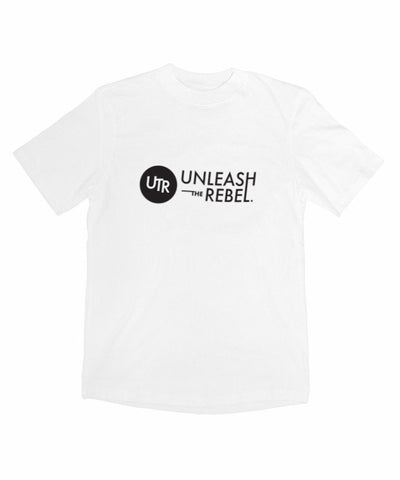 Signature Logo T-Shirt (White) - Unleash The Rebel