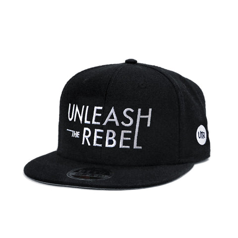 Unleash The Rebel Typography Logo Snapback