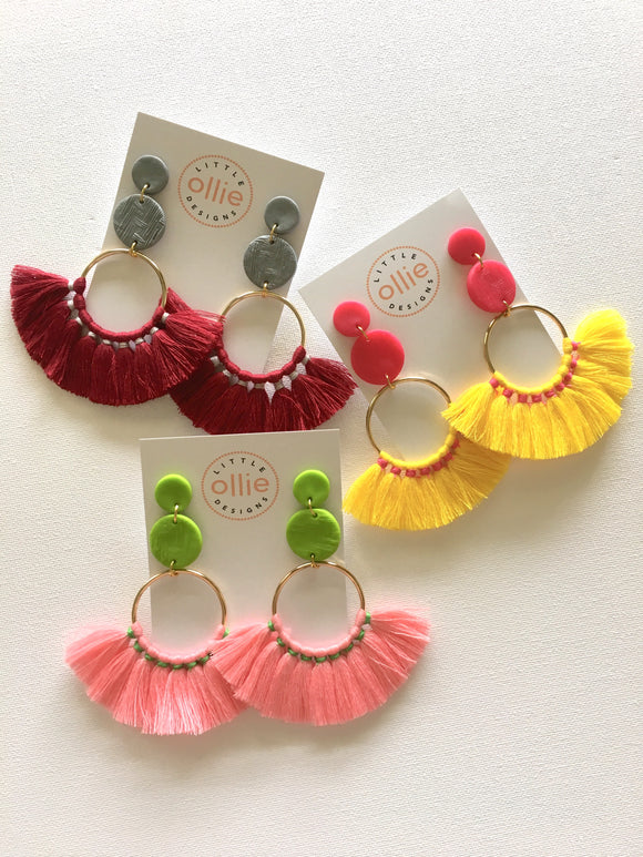Fan Tassels (Choose Colour)