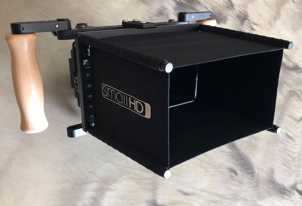 "SmallHD 702 OLED 7"" On-Camera Monitor Kit with Wooden Camera Cage"