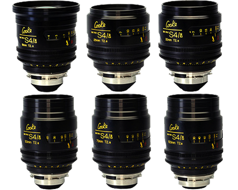 Cooke Mini S4s 6 lens set T2.8