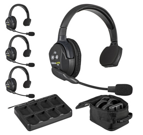 UltraLITE 4-Person Headset System from Eartec -  On set communication