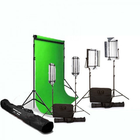 Portable Digital Green Screen with 4 Fluorescent Lights for hire / rent in Melbourne Australia