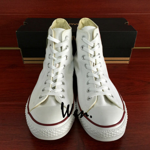 ... Anime Attack On Titan Design Converse All Star Hand Painted Shoes White  Sneakers 58e19a3f7b8b