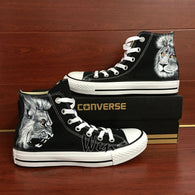 0331431c5c28 Custom Converse Lion King Hand Painted Shoes High Top Black Canvas Sneakers  Gift